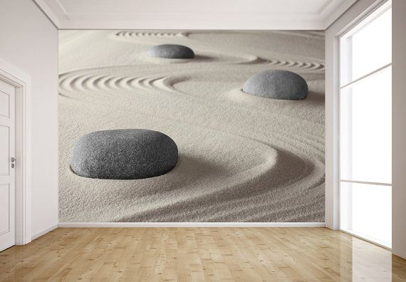 Zen Garden For Relaxation Mural Repositionable Peel And Stick Wall Mural Wall Covering Easy To Install And Remove Spa