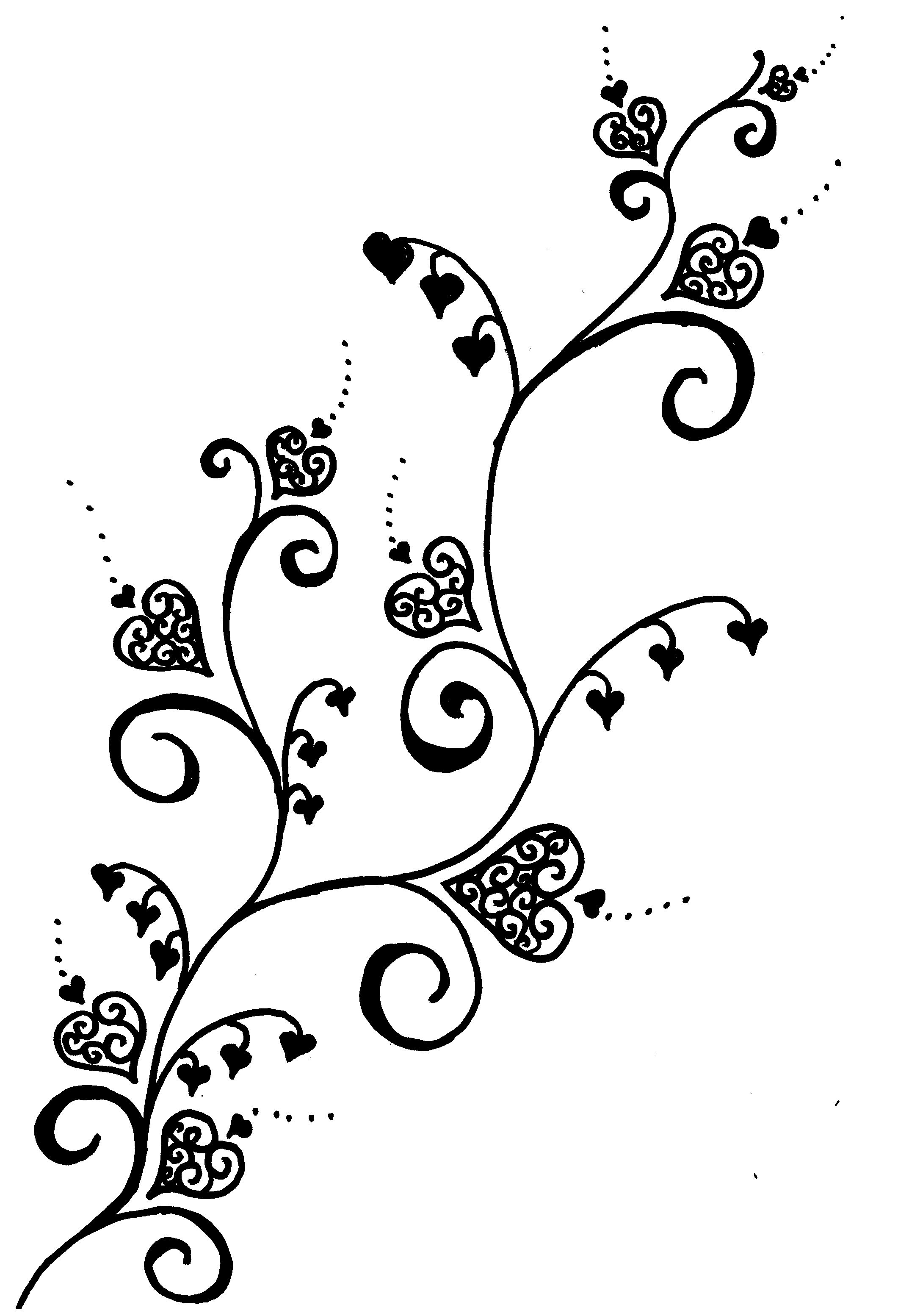 Heart tattoos designs - Rose Vine Tattoo Designs List Of All Vines Tattoos Design Images