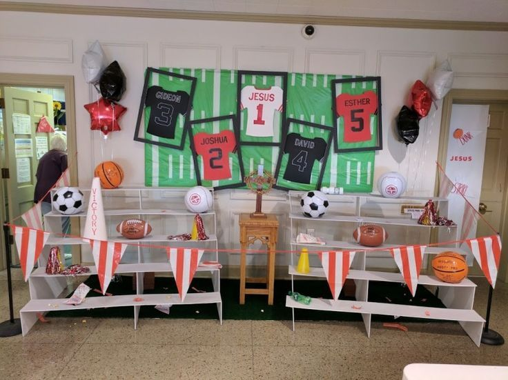 Image result for sports room decorations vbs 2018 | VBS 2018