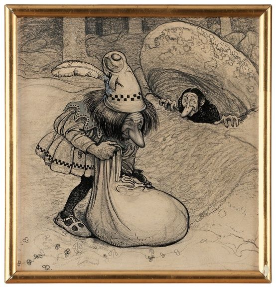 John Bauer (1882-1918)  'The Leather Bag', 1908
