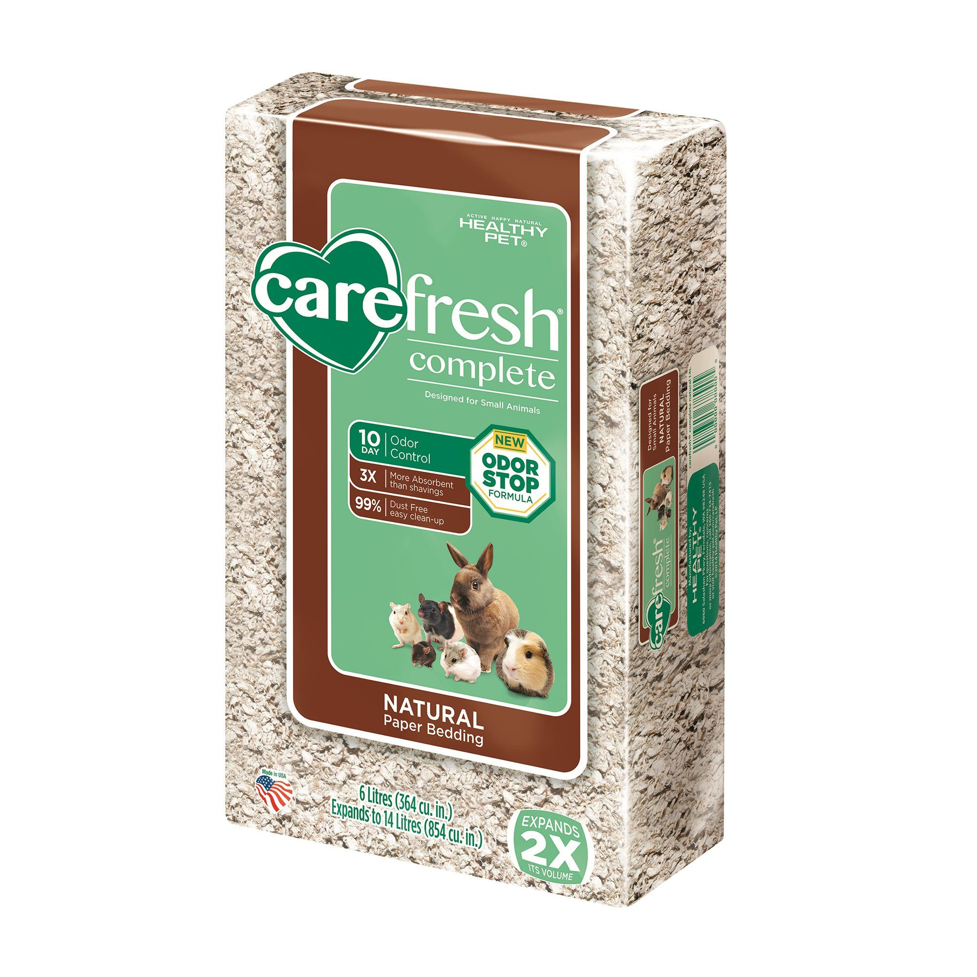 Carefresh Natural Small Pet Bedding, 60 liters Small