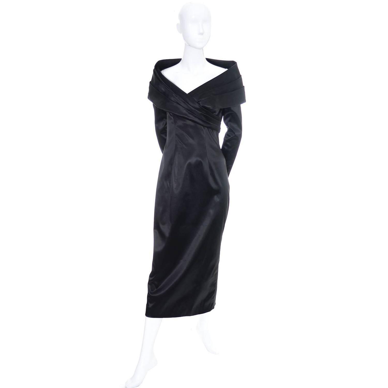 Sophie Sitbon Paris Vintage Dress Avant Garde Shawl Collar Size 42 France