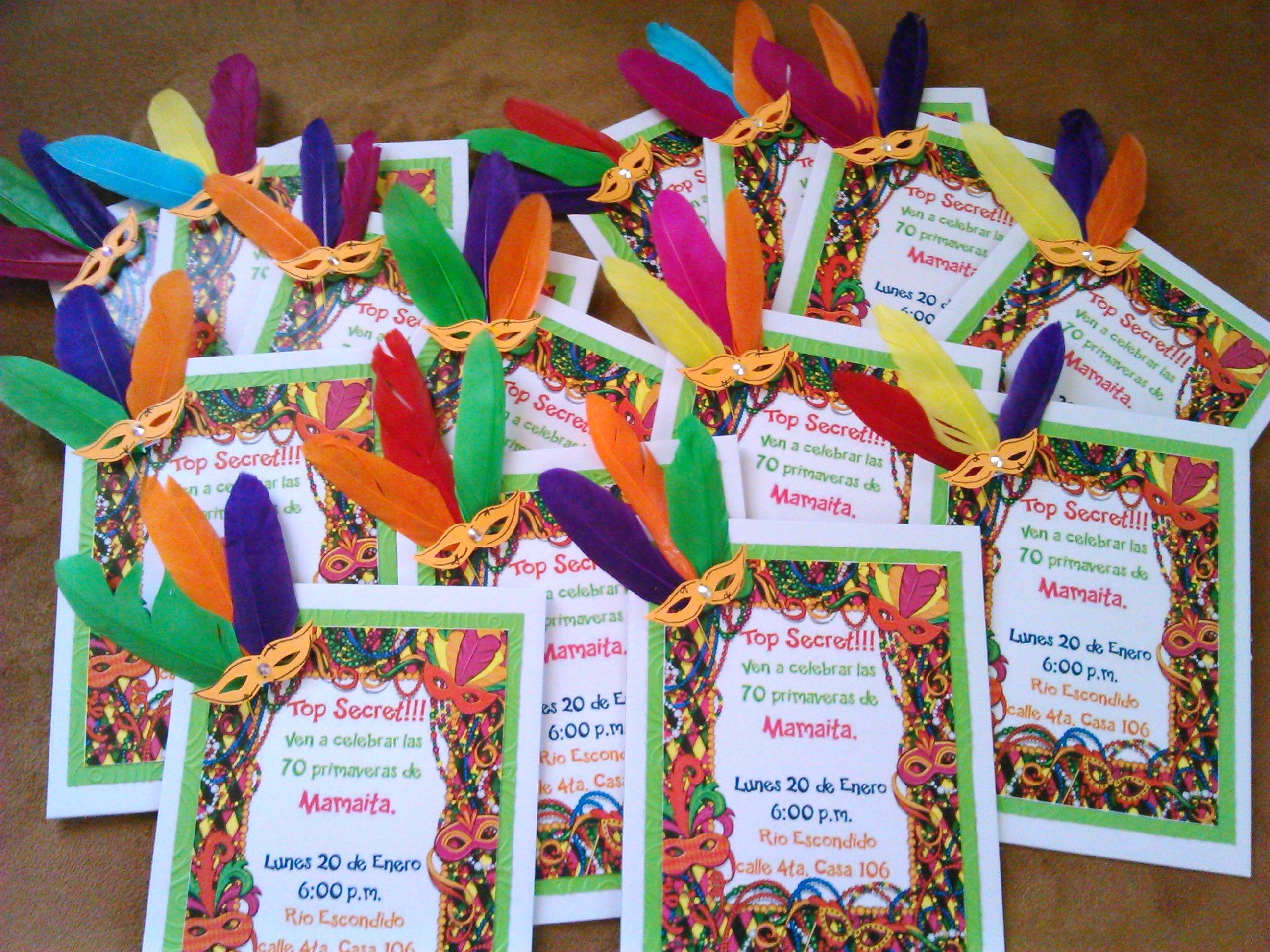 Empezamos Con Las Tarjetas De Invitación Llenas Colores Y