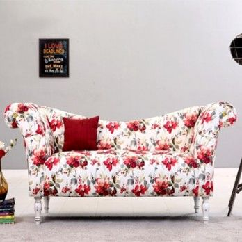 Bella chaise lounge with beautiful floral print in red is an amazing chaise lounge furniture to : bella chaise lounge - Sectionals, Sofas & Couches