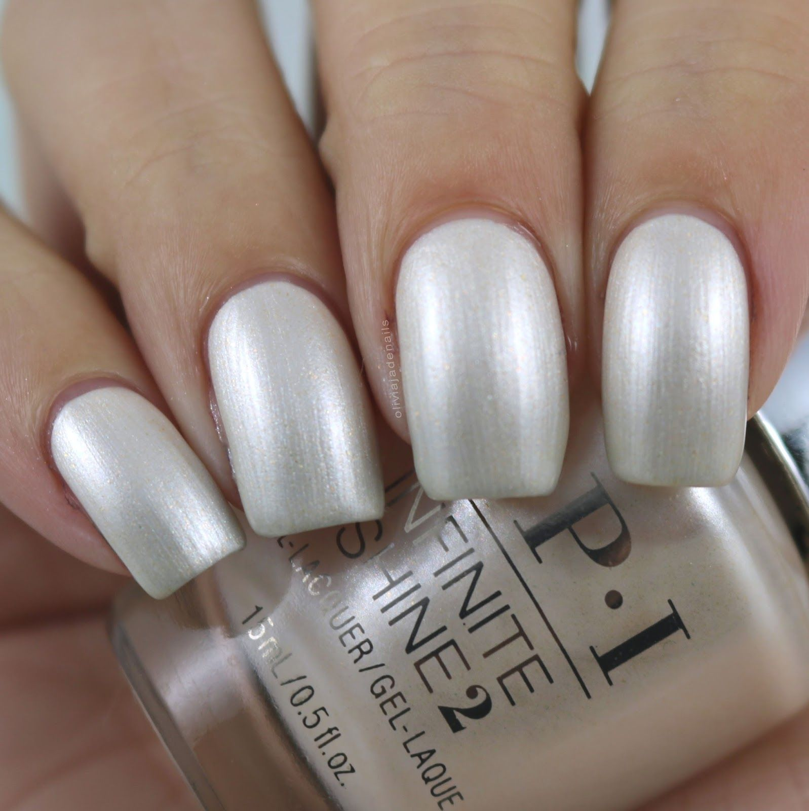 OPI Snow Glad I Met You swatched by Olivia Jade Nails | nails ...