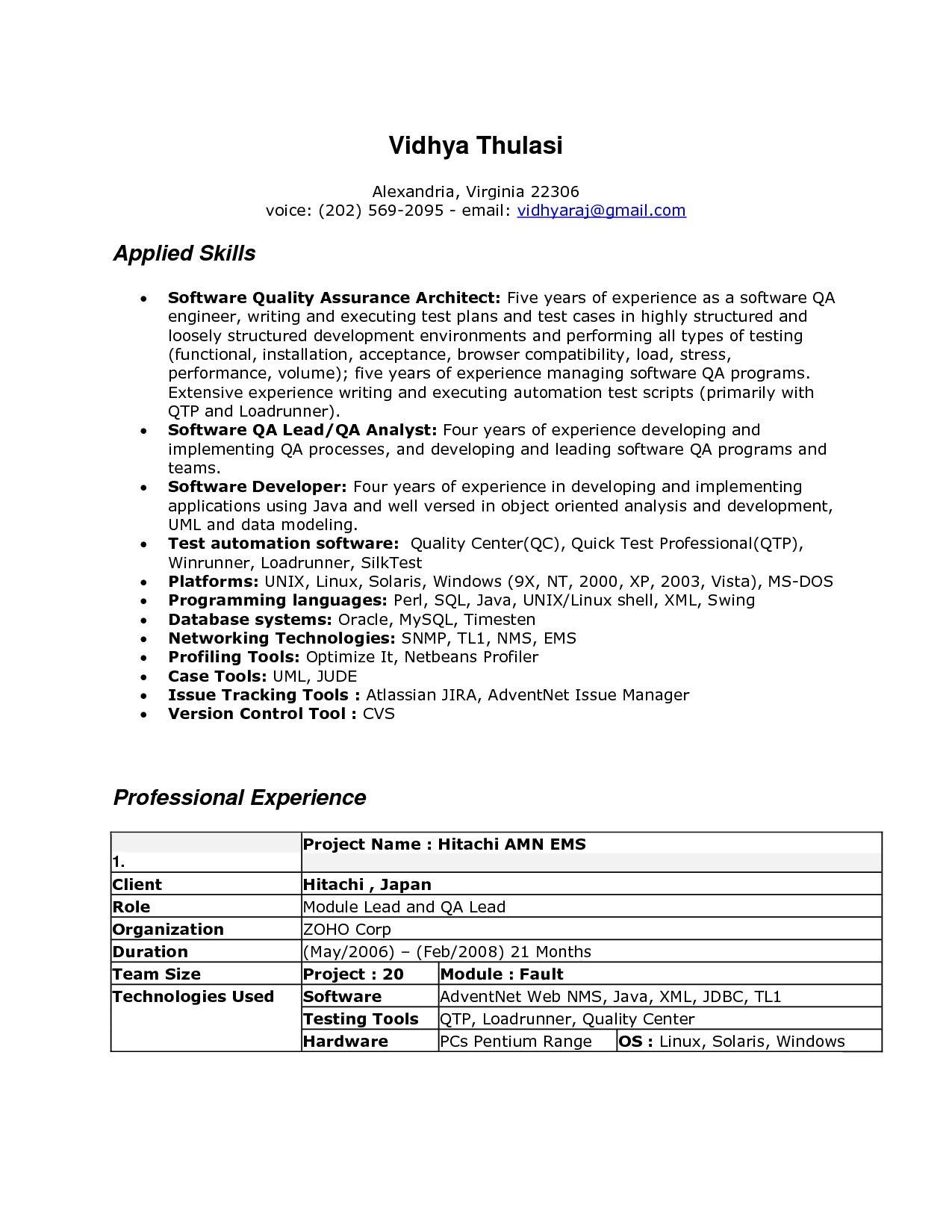 Linux Resume In Vieginia Performance Professional Baseball