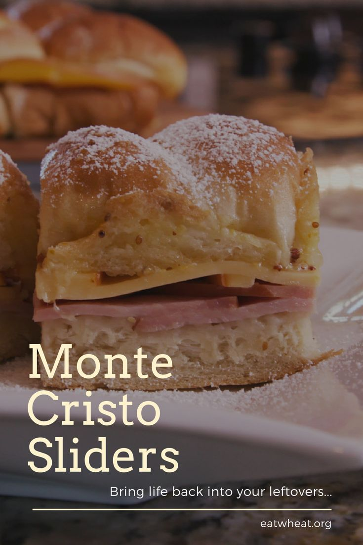 Homemade Monte Cristo Party Sliders | Leftover ham, Turkey ...