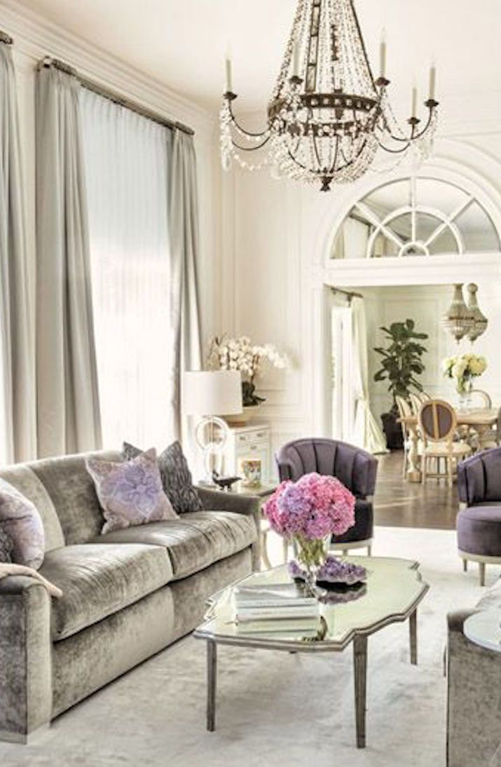 10 Most Popular Living Rooms On Pinterest Purple Gray