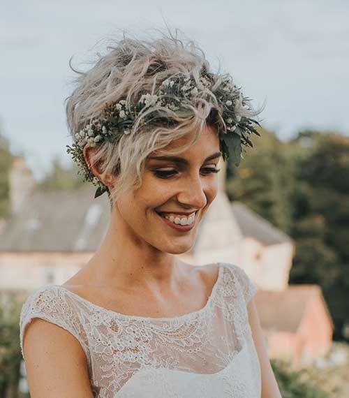 Beste kurze Frisuren für die Hochzeit, die Sie sehen sollten #curlshorthair
