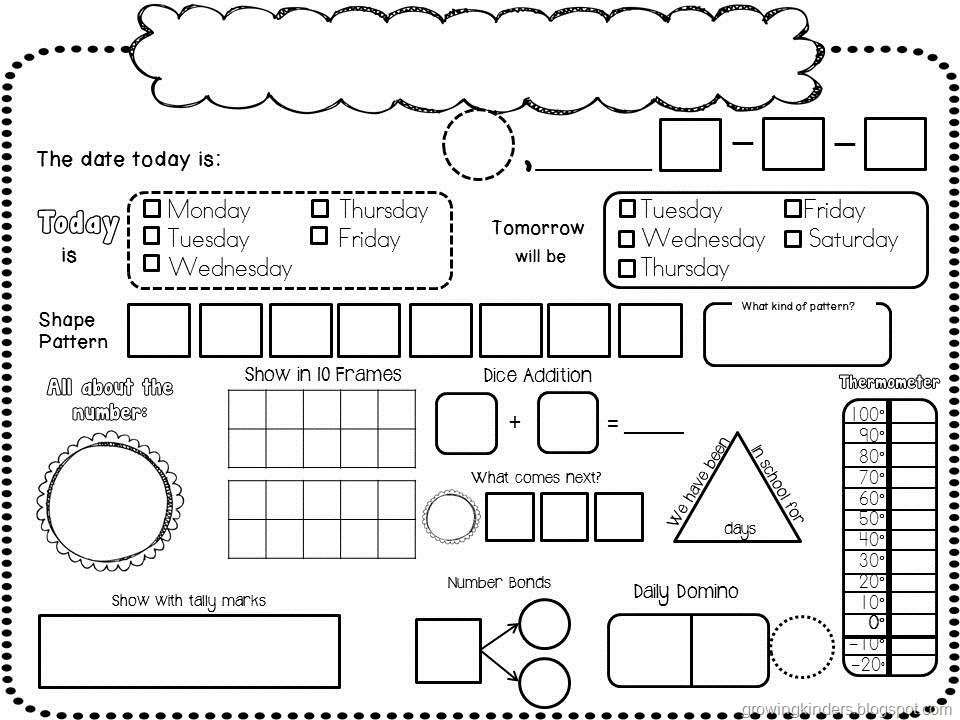 Calendar Math Kindergarten : Calendar math printables analyze the year and