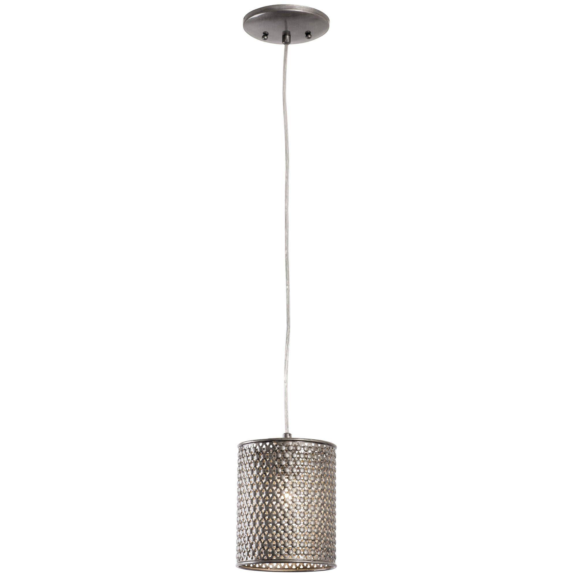 Varaluz casablanca light steel mini pendant steel silver metal