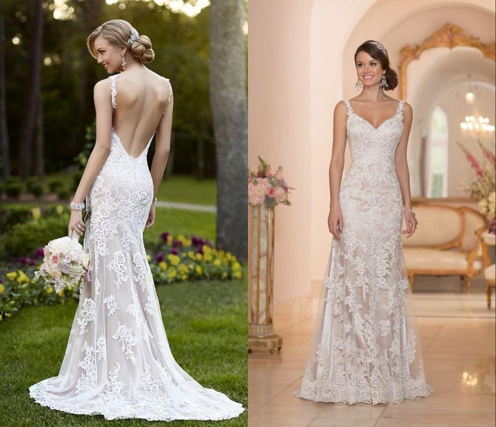Lace backless wedding dress patterns