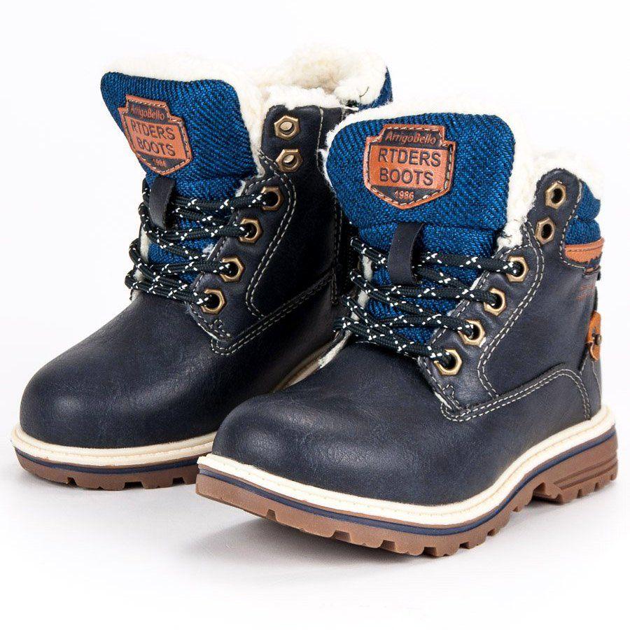 Polbuty I Trzewiki Dzieciece Dla Dzieci Arrigobello Arrigo Bello Niebieskie Chlopiece Ocieplane Traperki Winter Boot Sorel Winter Boot Boots