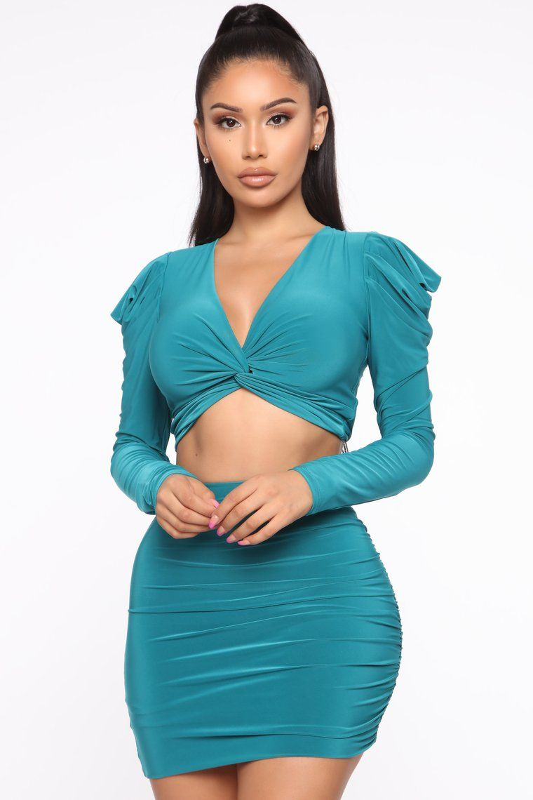 Senorita Slinky Skirt Set Jade Skirt Set Party Dress Classy Fashion Nova Outfits