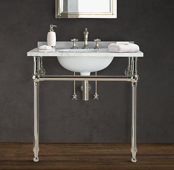 Console Sink Washstand Vanity Bathroom Design