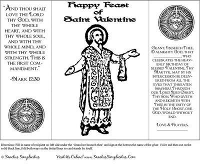 St valentine coloring sheet murderthestout for Saint valentine coloring page