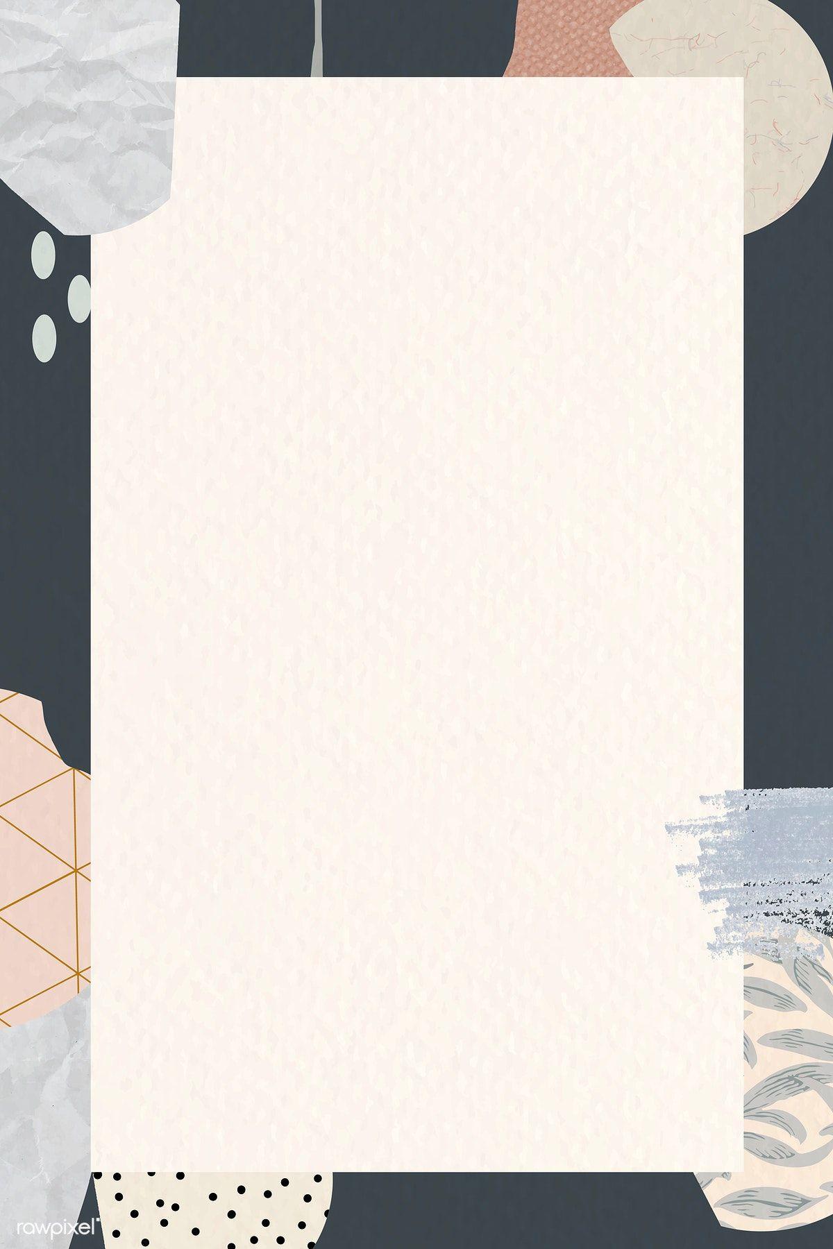 Download Premium Vector Of Terrazzo Frame On Beige Background Vector Powerpoint Background Design Flower Background Wallpaper Abstract Iphone Wallpaper