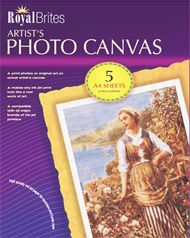 Royal Brites Artists Canvas Inkjet Photo Paper 85 X 11 5pack