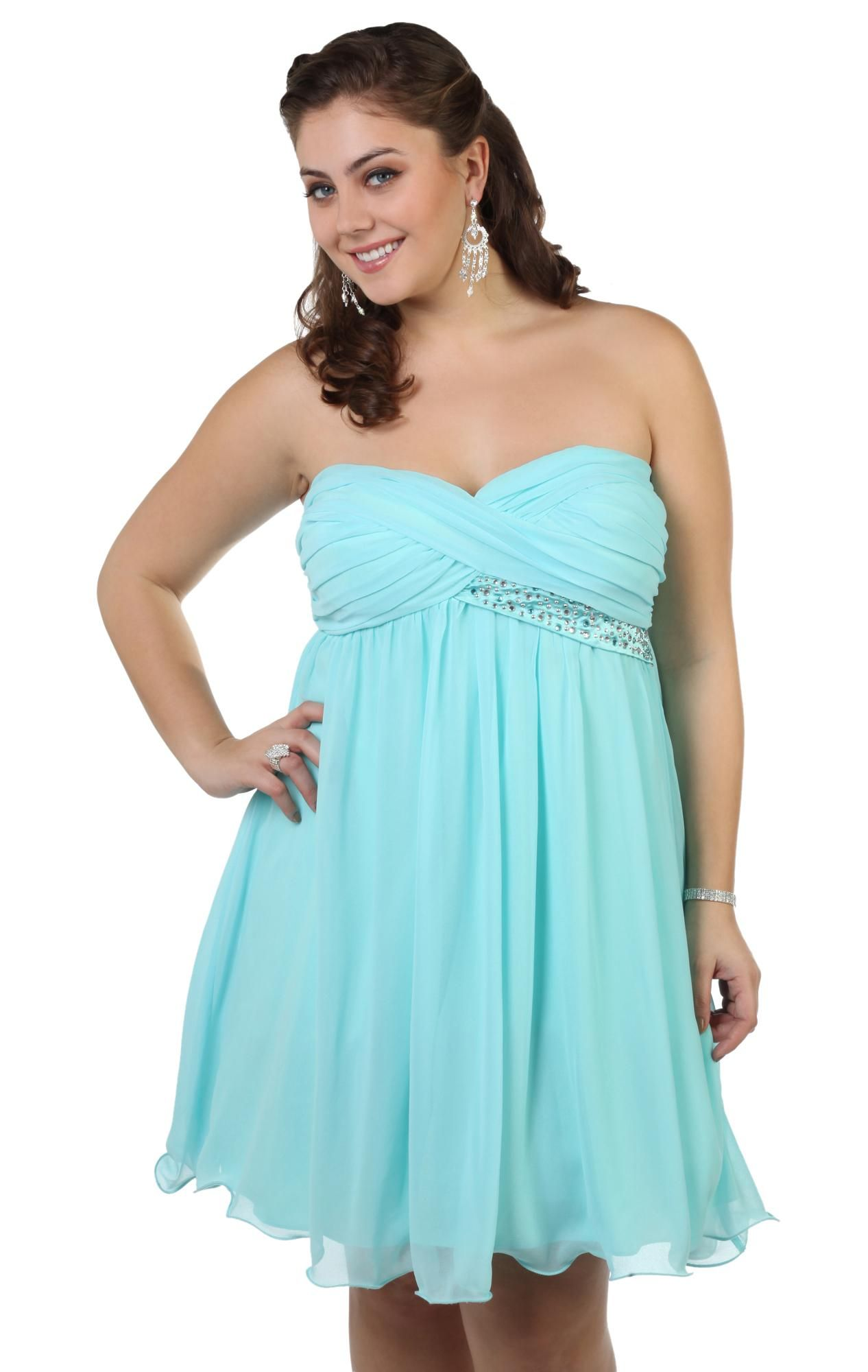 Possible honeymoon dress Short strapless prom dresses