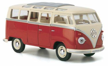 1962 Volkswagen Classical Hippie Bus 1:32 scale Die Cast Blue model VW Kombi