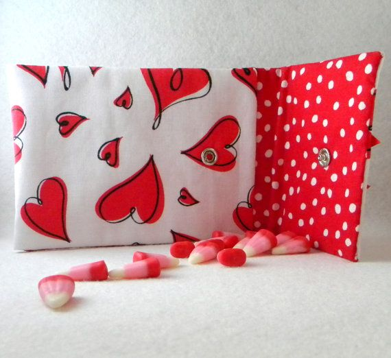 Valentine Heart iPhone Case Snap Closure 5 1/2 by cottontailquilts