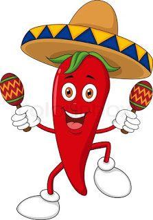 chili pepper cartoon  Mozaics  Pinterest  Septiembre Muecas