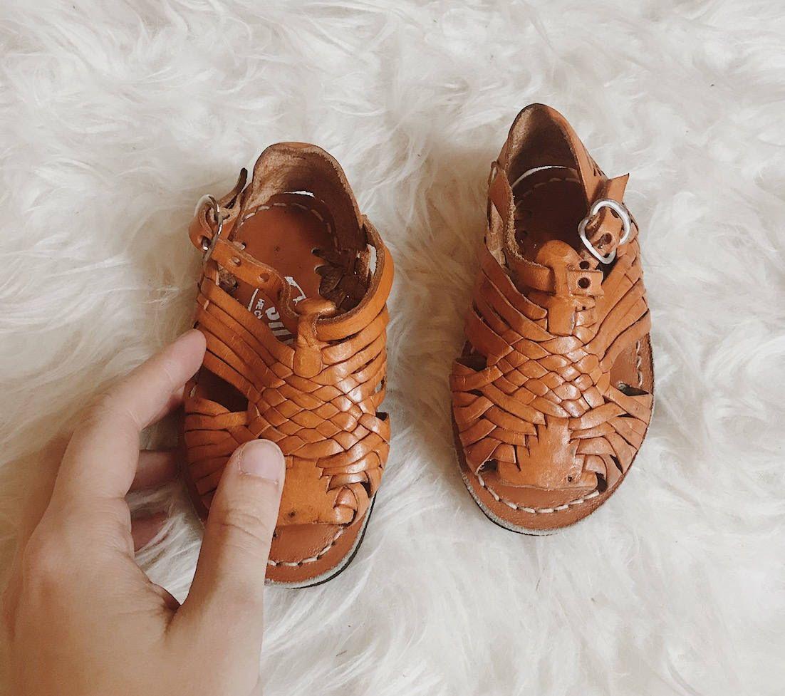 ced52edc804 Vintage kids' huaraches | kids Mexican huaraches | vintage kids sandals |  woven leather child's sandals | children's rainbow huaraches