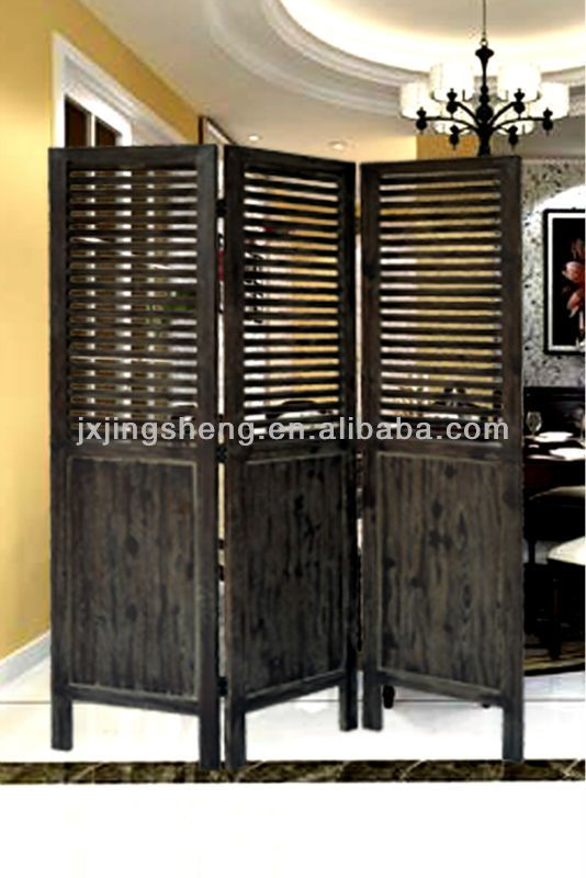 Distressed Finish Solid Wood 3 Panel Folding Room Divider Buy Solid Wood Room Divider 3 Panel Folding Screen Restaurant Room Divider Product On Alibaba Com With Images Room Divider Wood Room Divider Room Divider Walls