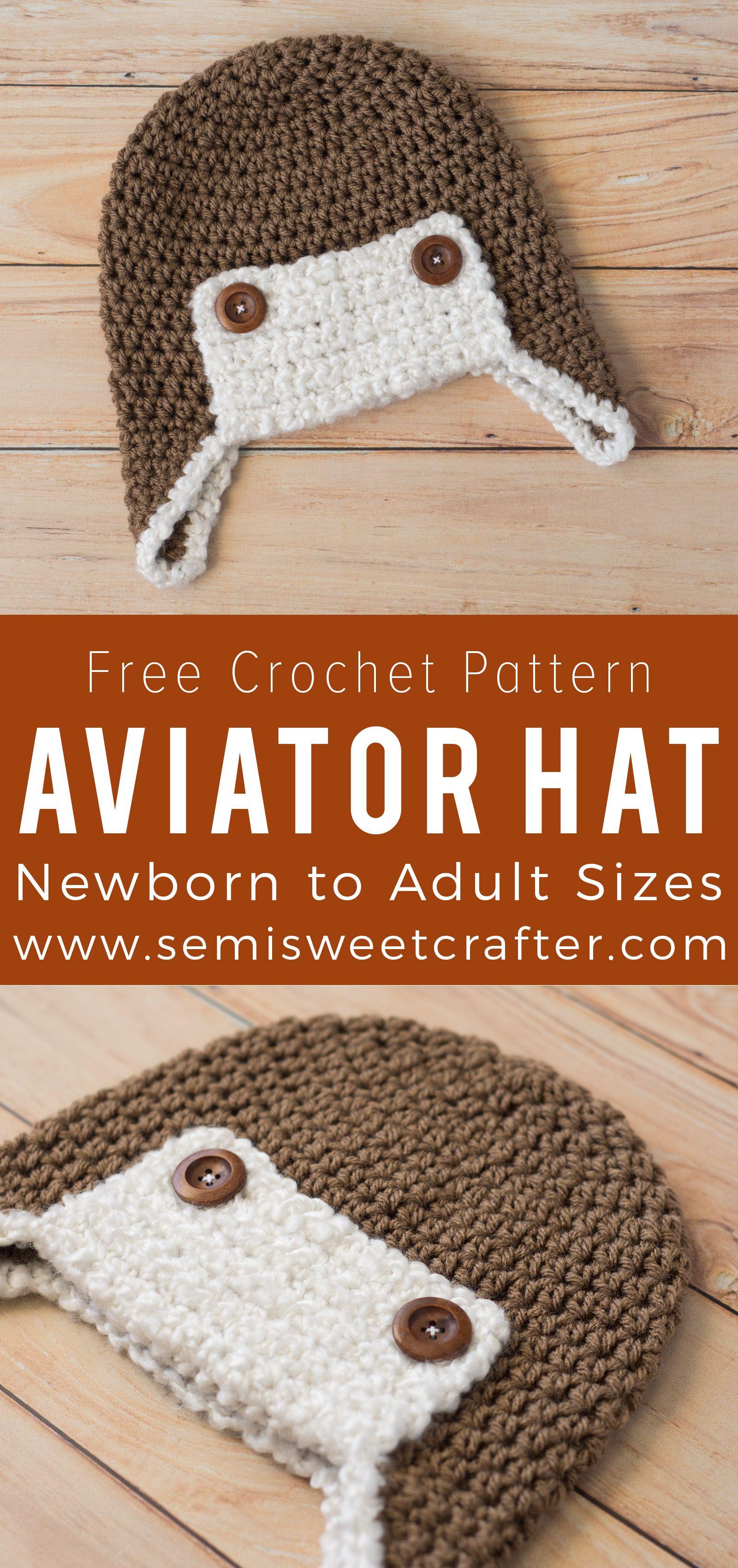 Aviator Hat | Crocheting | Pinterest | Tejido