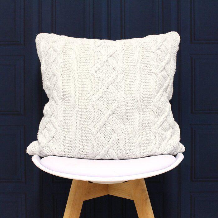 Aran Cotton Cushion Cover | Knitted cushion covers ...