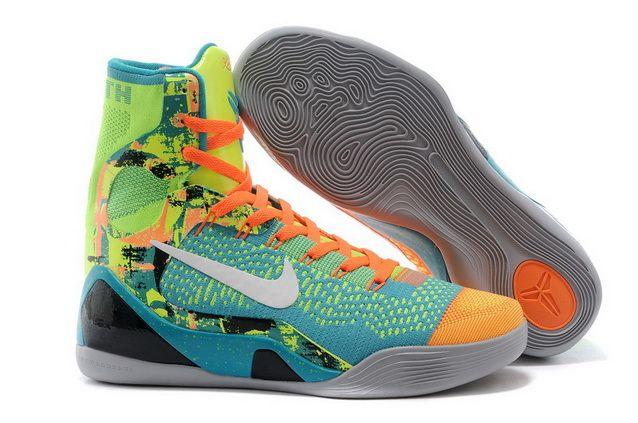 Mens Nike Kobe 9 Elite High-Top Influence Sport Turquoise/White-Volt-