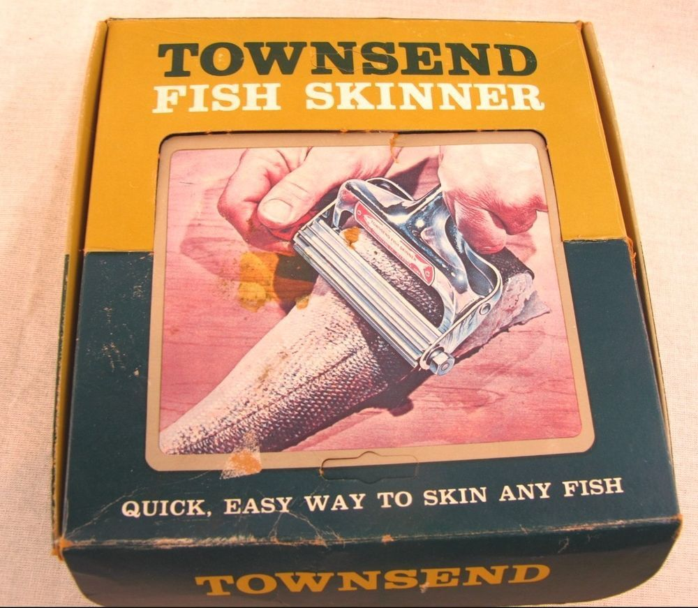 Townsend Fish Skinner Vintage Skin Remover Scaler Unused Original Box Quick Easy