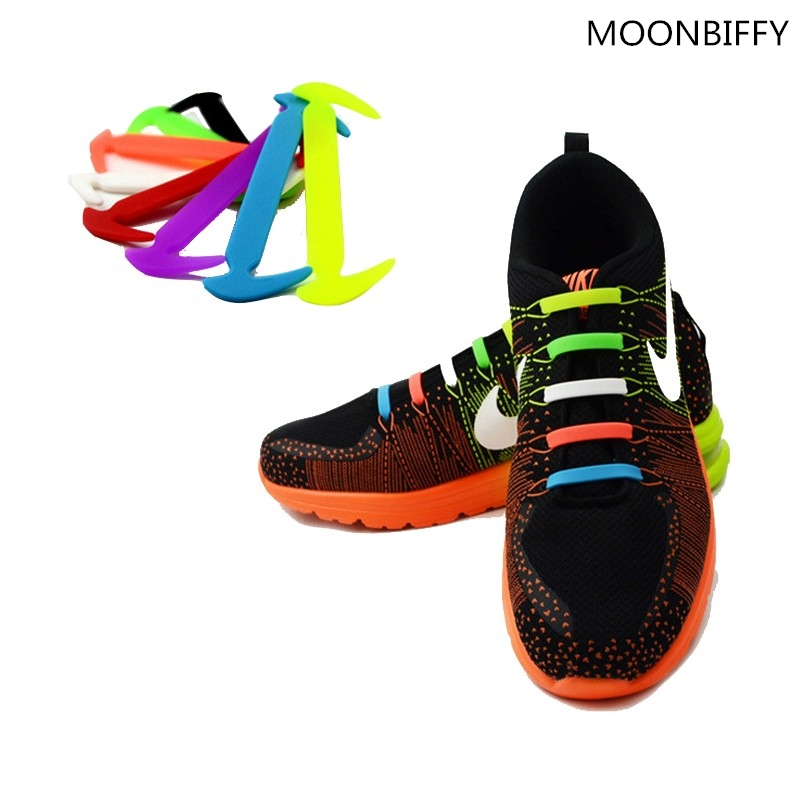 b3a4b6a04605 No need to tie shoe laces during your run! Get these NO TIE Silicone shoe  laces. Very easy to use and never have to worry about loose shoe laces!