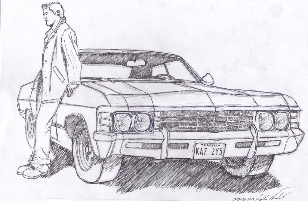 chevy impala 67 sketches