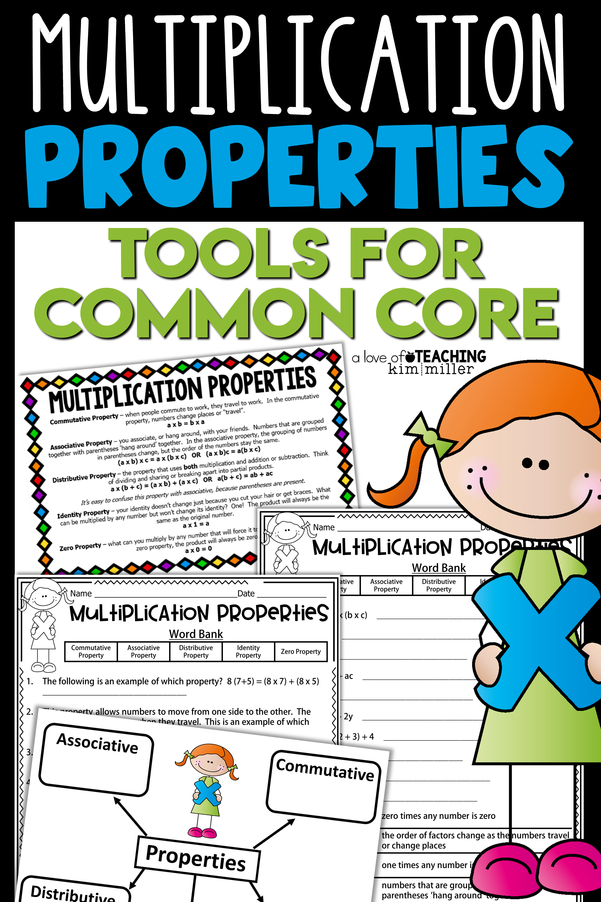 Multiplication Properties Tools For Common Core