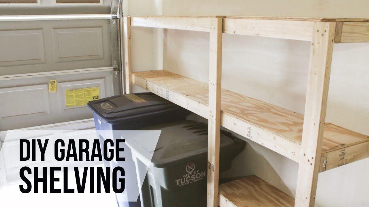 Diy garage shelves howto youtube in 2020 diy