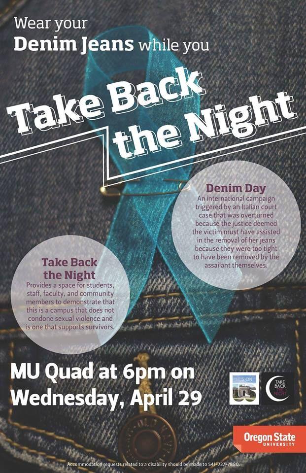 Take Back the Night Denim Day