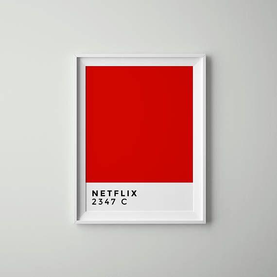 netflix pantone printable wall art coated yellow 012