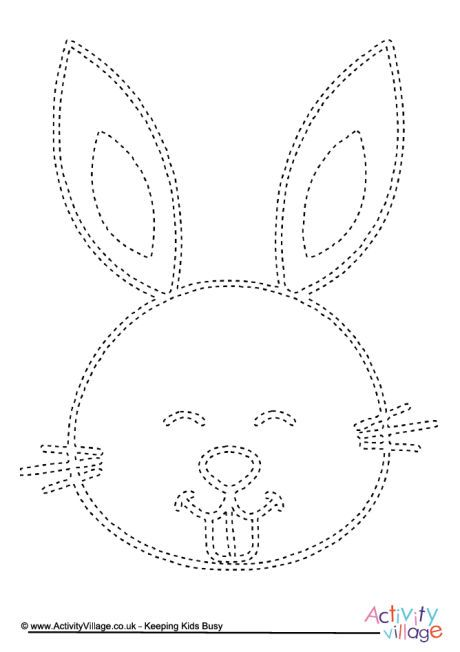 Rabbit tracing page Pre K and