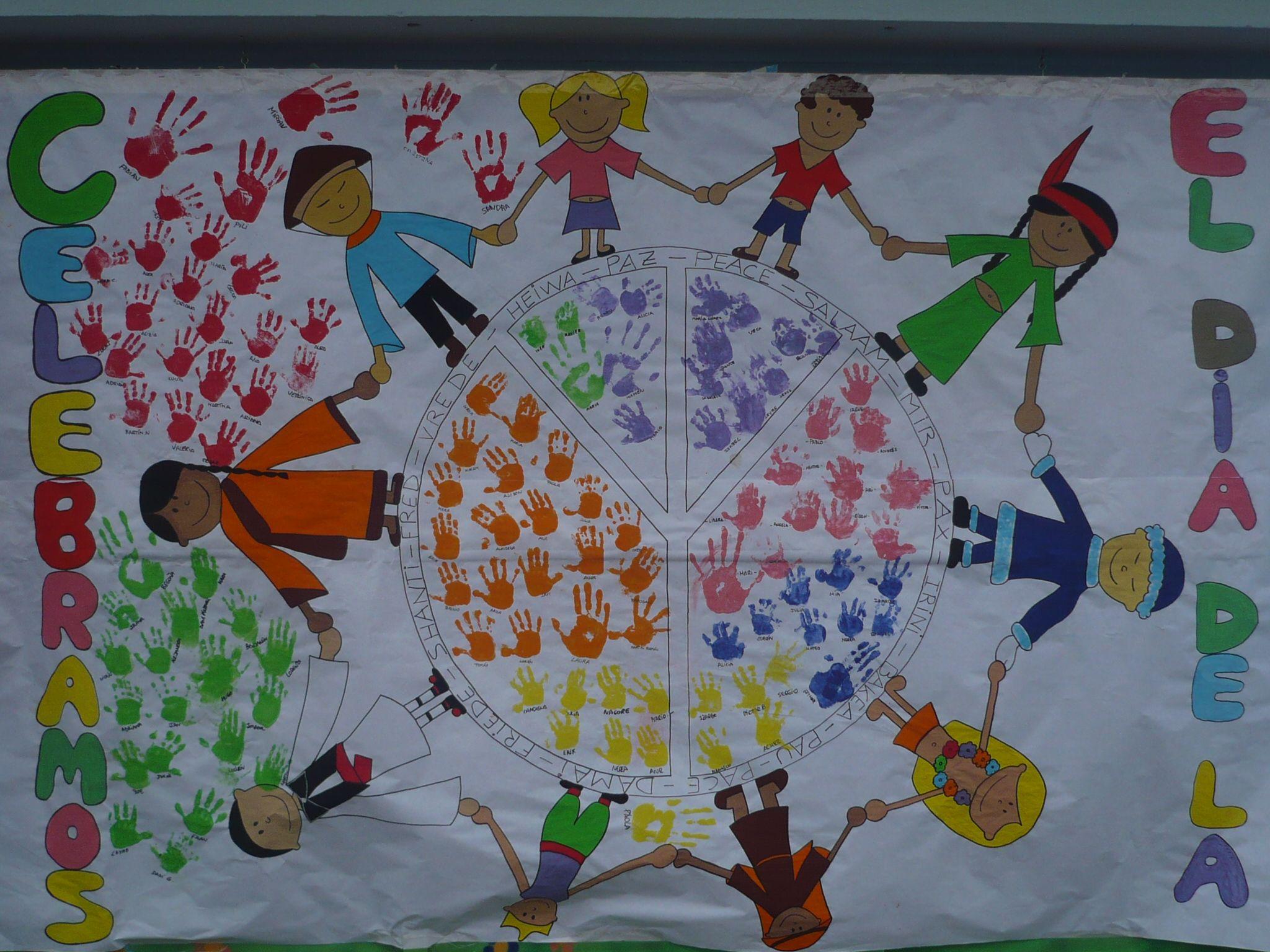 Resultado de imagen de muraless dia paz la paz pinterest for Cuanto cobrar por pintar un mural