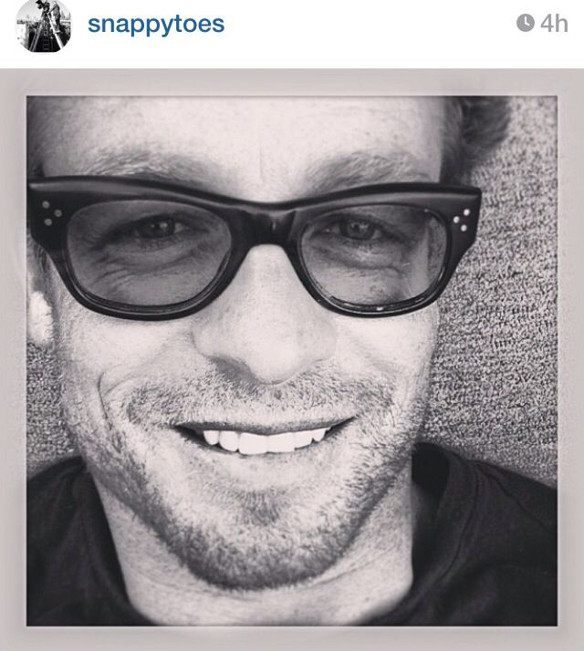#SimonBaker  from #TheMentalist.   9/29/13 Simon post the pic from his Instagram account snappytoes   http://Instagram.com/snappytoes