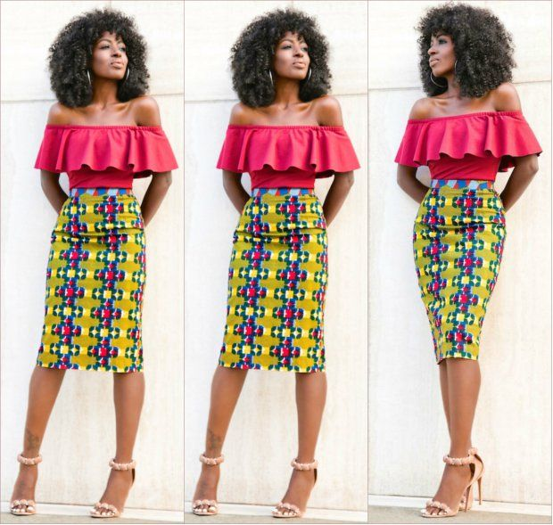 Best Way To Rock Off Shoulder Ankara Tops With Skirts African