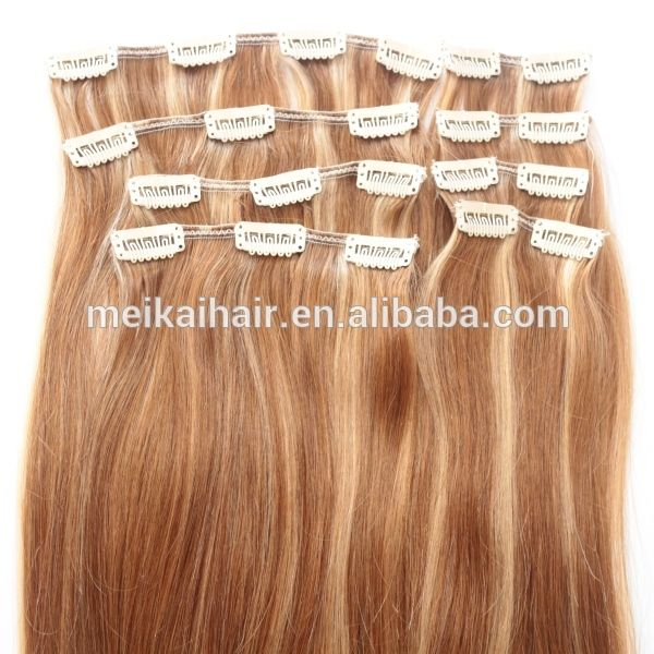 Wholesale Factory Grade 7a High Quality Clip On Hair Extensions