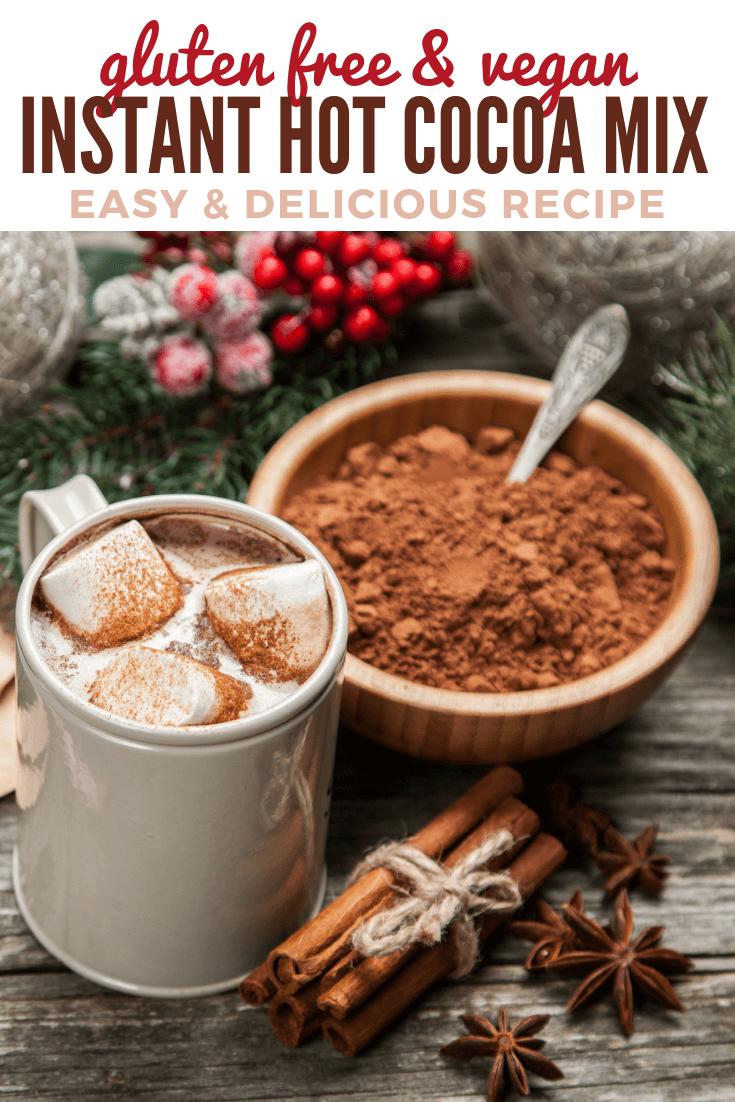 Gluten Free Vegan Instant Powdered Hot Chocolate Mix Recipe In 2020 Dairy Free Hot Chocolate Gluten Free Hot Chocolate Vegan Hot Cocoa Recipe