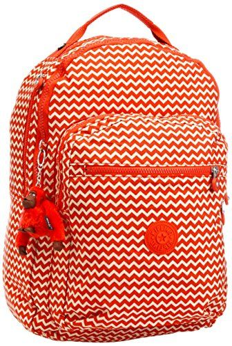 ea9df4dc600 Kipling Women s Clas Seoul Backpack One Size Chevron Red Pr Everything you  need in a day-to-day style companion