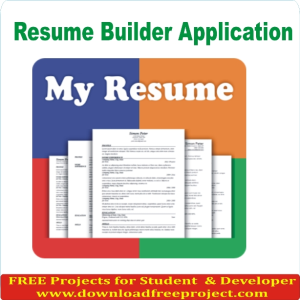 Free Resume Maker Project In PHP Projects Download  Resume Maker Free Download