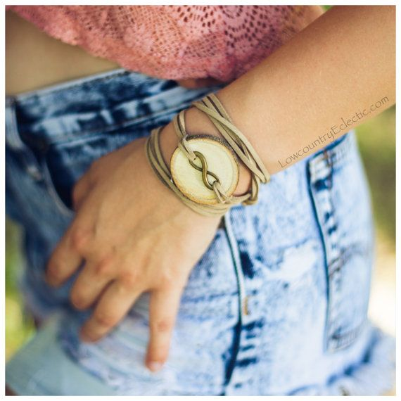 Infinity Essential Oil Diffuser Bracelet by LowcountryEclectic