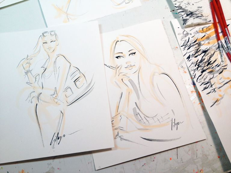 Cutie Girls...client rough sketches.