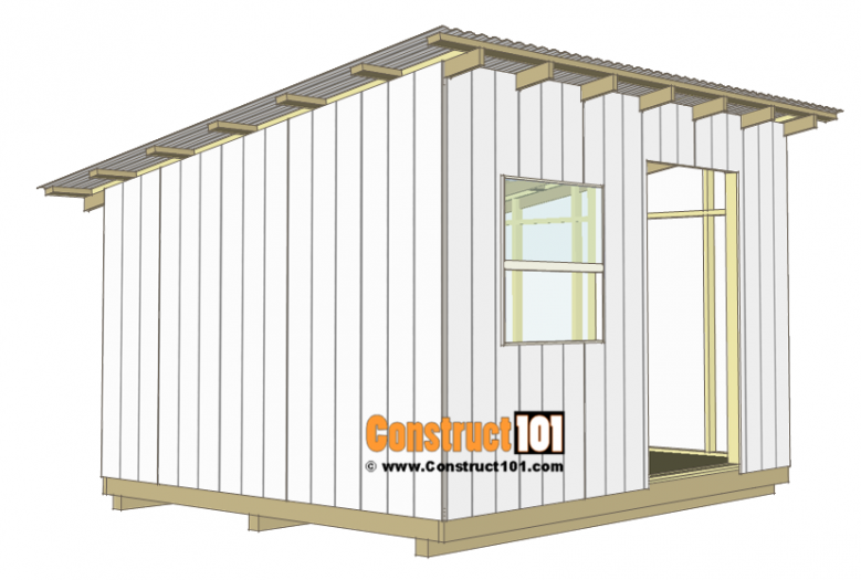 10x12 Lean To Shed Plans Construct101 Lean To Shed Diy Storage Shed Plans Shed Storage