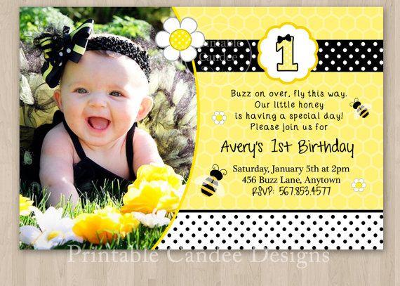 Bumble bee birthday invitation diy custom printable via etsy bumble bee birthday invitation diy custom printable via etsy filmwisefo